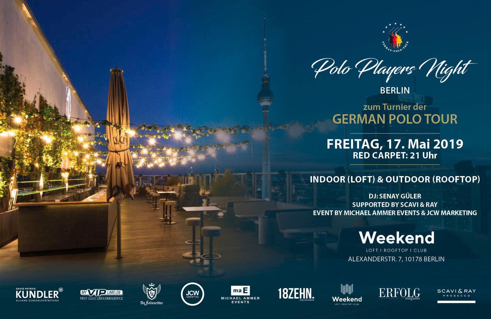 FLYER - POLO PLAYERS NIGHT BERLIN - 17.05.19 - quer
