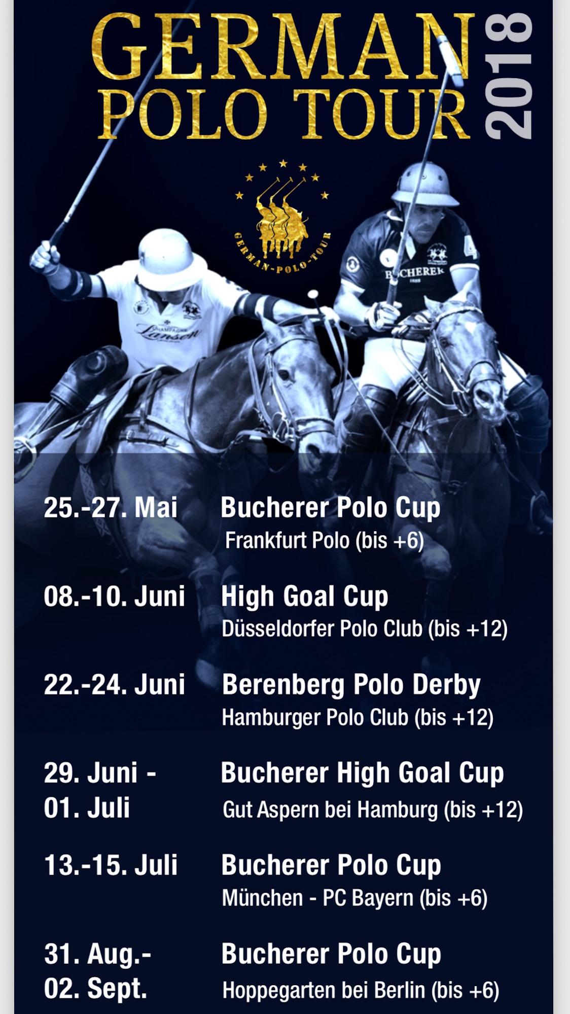 GERMAN POLO TOUR 2018 - TERMINE